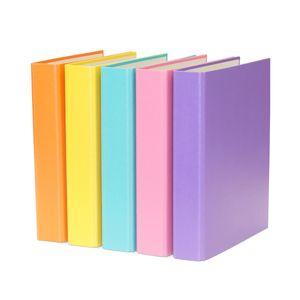 5x Ringbuch / DIN A5 / 2-Ring Ordner / je 1x gelb, lila, türkis, pink und orange