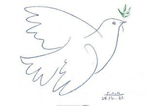 Pablo Picasso Poster Kunstdruck - Friedenstaube, 1961 (60 x 80 cm)