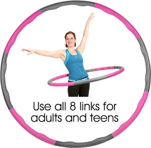 Hula Hoop-Serie zur ,Reifen mit Schaumstoff Hula-Hoop-Reifen für Fitness, Zufällige Farben