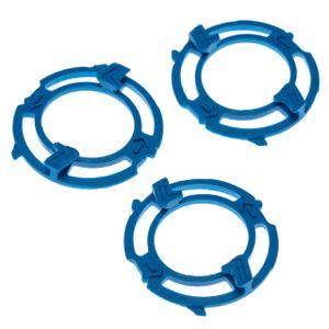 vhbw 3x Scherkopfhalter passend für Philips S5000, S5013, S5050, S5070, S5075, S5077, S5079, S5080, S5082 Rasierer, blau