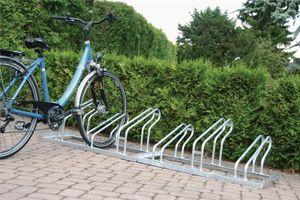 Fahrrad-Bügelparker 5er 1seitig Radabstand 350mm