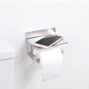 Aluminiumlegierung Toilettenpapierhalter Klorollenhalter Klopapierhalter WC Rollenhalter Edelstahl