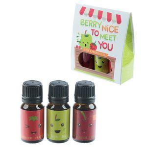 Frucht mit Gesicht 3-er Set Duftöle Fruchtig