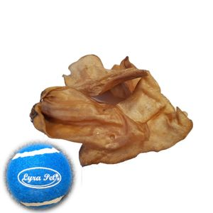 100 Stk. Lyra Pet® Rinderohren ca. 2 kg + Tennis Ball