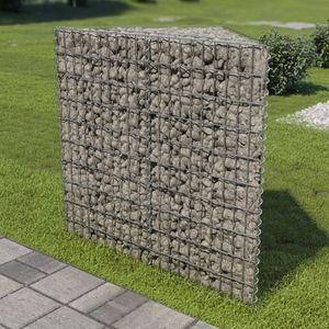 Gabionen-Hochbeet Garten-Hochbeet Hochbeet Verzinkter Stahl 75×75×100 cm