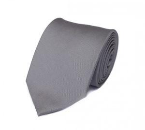 Schlips Krawatte Krawatten Binder 8cm silber grau uni Fabio Farini