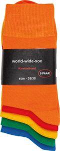 5 Paar bunte farbige Socken Baumwolle für Damen und Herren Komfortrand Gr. 35/38
