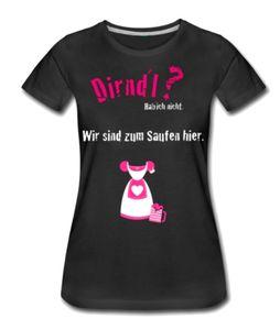 Tshirt Shirt S schwarz pink Damen Oktoberfest Dirndl Spruch Wiesn