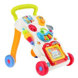 Multifuctional Kleinkind-Trolley Sit-to-Staender ABS Musical Walker mit Einstellverschraubung