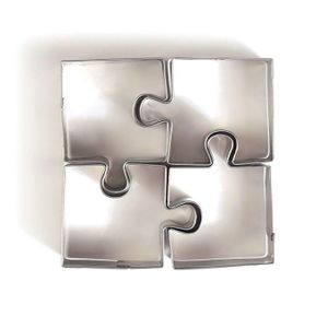 4 Mini-Edelstahl-Ausstechformen - Puzzle