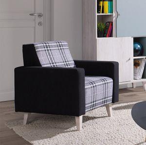 Mirjan24 Polstersessel Memone, Stilvoll Sessel vom Hersteller, Wohnzimmer Polsterung, Skandinavisch (Farbe: Gomez 12 + Lobox 03)