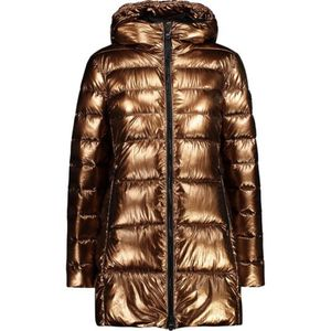 Cmp Woman Parka Fix Hood Q830 Bronze 38