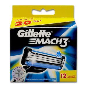 Gillette Mach3 Rasierklingen, 12er Pack