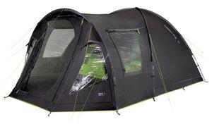 High Peak Kuppelzelt 4 Personen Campingzelt mit Vorbau, Familienzelt 4.000 mm wasserdicht, Wetterschutz-Eingang, Innenzelt abgedunkelt