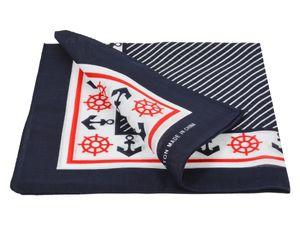 Bandana Zandana Kopftuch Halstuch verschiedene Muster 100% Baumwolle, Modell wählen:Maritim dunkel blau