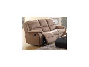 Relaxsofa Microfaser 3-Sitzer HERNANI - Taupe