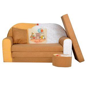 Kindersofa  zum Aufklappen 2-Sitzer W319_01 Happy Place FORTISLINE