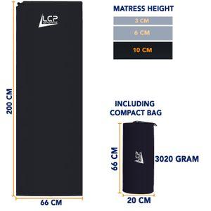 LCP Sports Selbstaufblasende Matratze / Matte 200x66x10 (XL) schwarz