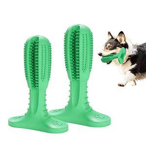 karpal Hundezahnbuerste Zahnreinigung Hundespielzeug Hunde zahnbuerste Creme-Geschmack Kauen Massagegeraet Spielzeug langlebig inkl Reinigungsbuerste fuer Hund Naturkautschuk£šM£©¡
