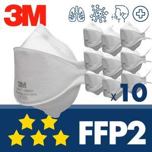 10x 3M Aura 1862+ FFP2 ohne Ventil - CE Atemschutzmaske