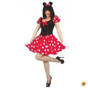 Maus Kostüm, Damen Kleid gepunktet, Größe:M