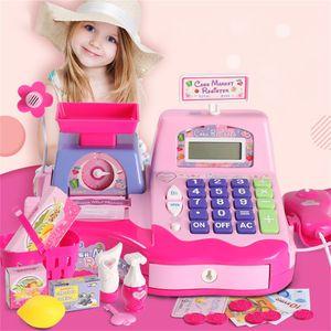 Kinder elektronische Mini simulierte Supermarkt Cash Kits Kasse Spielzeug HQQ91224001