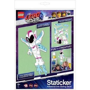 Staticker Wandaufkleber Elektrostatisches Puzzle für die Wand Helden aus dem Lego Movie 2 Selbstklebend Wiederverwendbar (Sweet Mayhem)