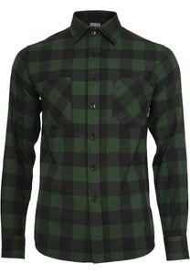 Urban Classics Hemd Checked Flanell Shirt Black/Forest-3XL