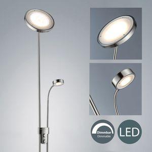 LED Stehleuchte Fluter stufenlos dimmbar inkl. 21W LED-Platine 2300 Lumen Warmweiß Deckenleuchte Deckenfluter Leselampe IP20 B.K.Licht