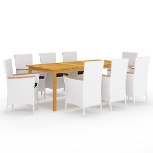 Gartenmöbel Essgruppe 8 Personen ,9-TLG. Terrassenmöbel Balkonset Sitzgruppe: Tisch mit 8 Stühle❀3214