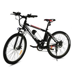 WINICE E-Trekkingrad Elektrofahrrad E-bike Mountainbike mit LED Fahrradlicht, 26 Zoll City Bike E-MTB Elektrisches Fahrrad mit 36V 350W und 21-Gang,für Damen, Herren, Unisex