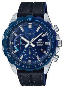 Casio Edifice Herren Armbanduhr EFR-566BL-2AVUEF Lederarmband