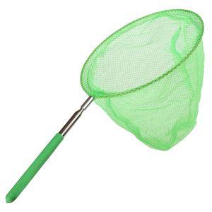 Teleskop Schmetterlingsnetz, Ausziehbar Kescher Fangnetz, Kinder Outdoor Strand Garten Spielzeug Farbe Grün