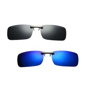 Pack Von 2 Autofahren Polarisierte Linse Clip-on Brille Myopie Sonnenbrillen Brillen