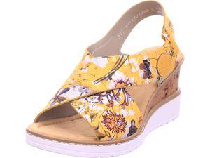 Rieker Damen Sandale Sandalette Sommerschuhe gelb V35H6-90 : 37