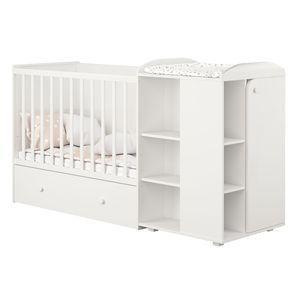 Polini Kombi-Kinderbett French 800 Ameli mit Kommode weiß, 2278.9