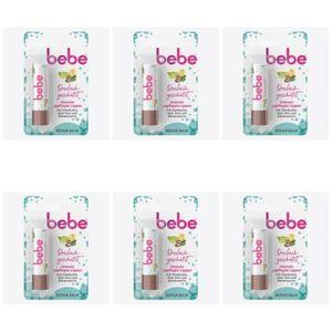 6 x Bebe Lipstick 3in1 Repair Balm Lippenpflegestift Lippenbalsam 4,9 g
