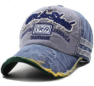 Distressed Basecap Snapback Outdoor Baseball Kappe Mütze