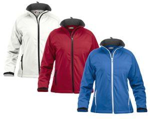 Clique Damen Softshelljacke Outdoor Jacke Windjacke Regenjacke Funktionsjacke , Farbe:Blau, Größe:M