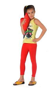 Mädchen Kinder Leggings in 23 Farben Baumwolle, Rot 140