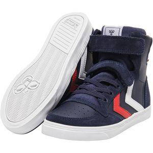 hummel Slimmer Stadil Kinder Leder High Sneaker peacoat 30