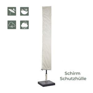 Zoomyo Schirm Schutzhülle für Ampelschirme, Standschirme und Sonnenschirme mit max. 300 cm Schirm-Ø, Länge 180 cm, schützt vor Regen, Schnee, Schmutz, Rost, Schimmel und mehr