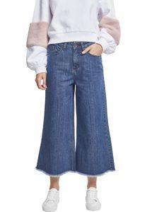 Urban Classics Ladies Denim Culotte TB2367, color:ocean blue, size:XXL