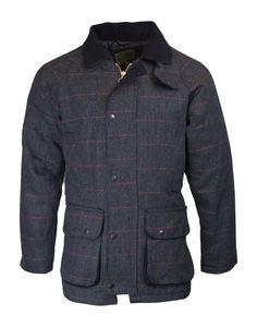 Walker and Hawkes - Walker & Hawkes - Herren Country-Jacke aus Tweed - für die Jagd geeignet - Blau - Blauer Tweed - XL