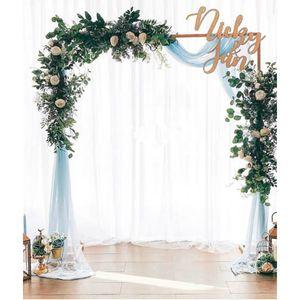DIY Eisen Hochzeitsbogen dekorative Garten Hintergrund Pergola Stand Blumenrahmen Ehe Bogen für Hochzeitsfeier Dekoration Outdoor Indoor