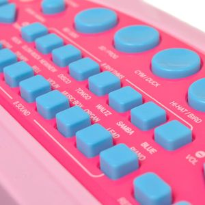 vidaXL Kinder Keyboard Spielzeug Piano mit Hocker/Mikrofon 37 Tasten Rosa