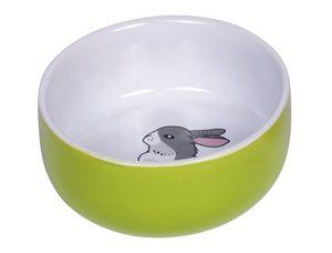 """Nobby Nager Keramik Napf """"Rabbit"""" grün/weiß Ø 11cm x 4,5 cm, 73751"""