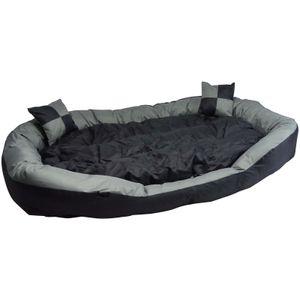 2in1 Hundebett XXL - kuscheliges, waschbares Hundekorb Big Tier Sofa - Größe XL 150x120x25cm