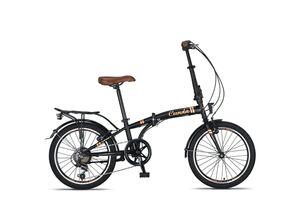 20 Zoll Camping Klapprad Klapp City Fahrrad Klappfahrrad Faltrad Rad Bike 6 Shimano Gang Beleuchtung STVO CUNDA MATT SCHWARZ