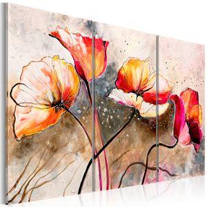 Modernes Wandbild 22353 (120x80) - 3 Teilig Bilder Fotografie auf Vlies Leinwand Foto Bild Dekoration Wand Bilder Kunstdruck Blumen